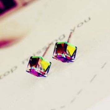 Magical Crystal Cubics Earrings - LilyFair Jewelry