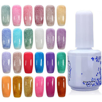 24 Colors 15ml Velvet Styles Nail Art Soak Off UV Gel Polish