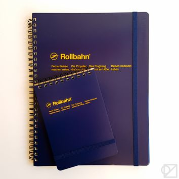 DELFONICS Rollbahn Notebook Dark Blue