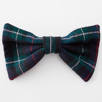 American Apparel - Plaid Flannel Bow Hair Clip