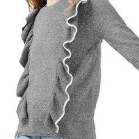 Topshop Tipped Ruffle Sweater | Nordstrom