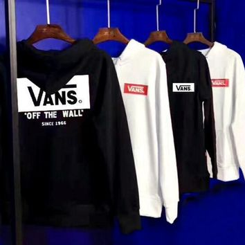 Vans Fashion Casual Pullover Long Sleeve Hoodie Print Sweater-1