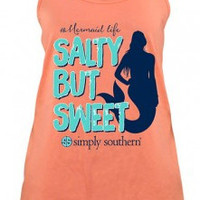 "Simply Southern ""Salty but Sweet"" Tank - Poppy"