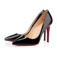 Best Online Sale Christian Louboutin Cl Pigalle Black Patent Leather 100mm Stiletto Heel Classic