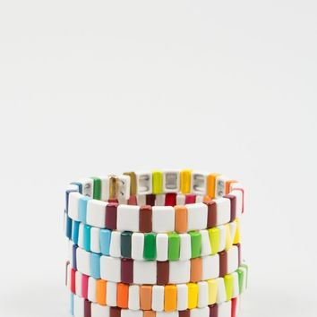 "MIRA MIKATI x ROXANNE ASSOULIN FOR LES VACANCES DE LUCIEN ""After The Storm Spectrum"" Bracelets"