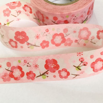 Washi Tape | Decorative Masking Sticky Tape | Japan Adhesive Tape | Scrapbooking Tools Favor Stationery | Cherry Blossom Sakura 10m K02