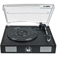 VIBE Sound USB Turntable/Vinyl to MP3 Audio Record Player w/Built-in Speakers