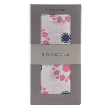 NEWCASTLE PRIMROSE INDIGO SWADDLE