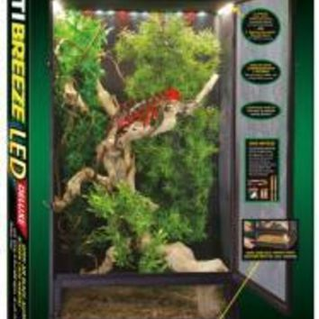 PEAPYN5 Zoo Med ReptiBreeze LED Deluxe Screen Cage (16'x16'30')