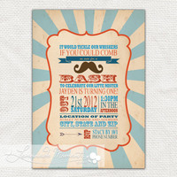 Mustache Bash / Little Man Invitation Printable by lemonademoments