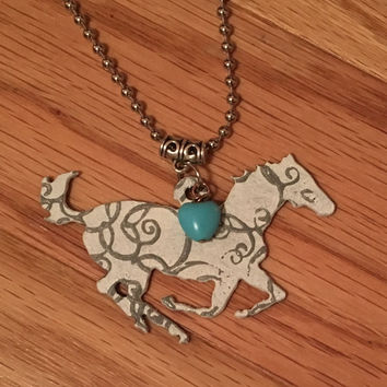 Rustic Horse Love Necklace