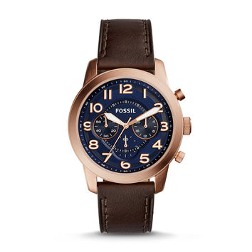 Pilot 54 Chronograph Dark Brown Leather Watch - $145.00