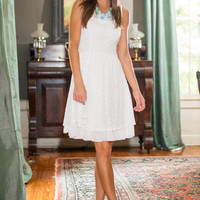 Frill Seeker Dress, Ivory