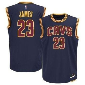 LeBron James Cleveland Cavaliers Cavs Authentic Boys NBA Youth Jersey Navy Road