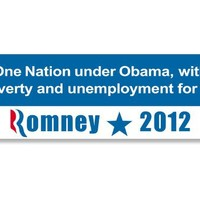 One Nation Under Obama, with Poverty & Unemployment for All Bumper Sticker