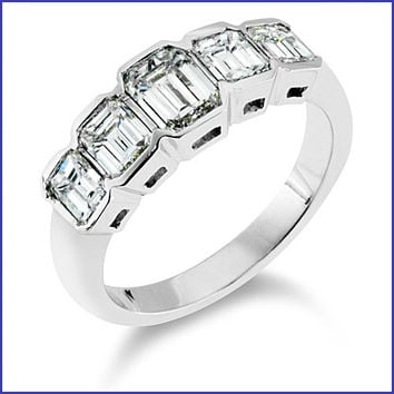 Gregorio 18K White Gold Diamond Band R-1799