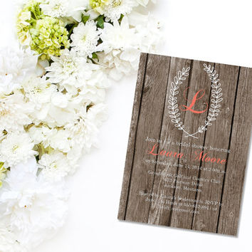 Printable Country Chic Bridal Shower Invitation