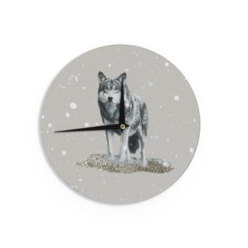 "Monika Strigel ""Wolf"" Wall Clock"