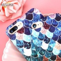 KISSCASE 3D Scales Hard Plastic Case For iPhone 6 7 6s Plus 5S SE Case Mermaid Squama Pink Green Back Cover For iPhone 6 6s 5s 7