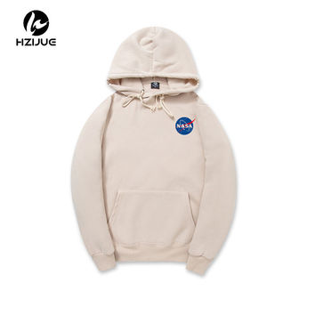 2017 XXL NASA Hoodie Streetwear Hip Hop Khaki Black gray pink white Hooded Hoody Mens Hoodies and Sweatshirts XXL Plus Size