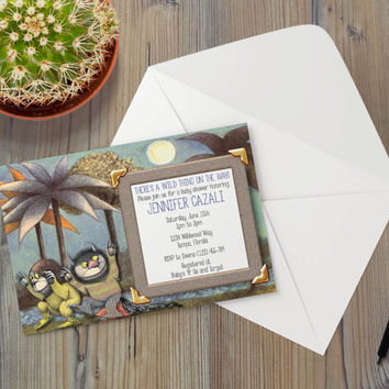 Instant Download - Where the Wild Things Are Monsters Max Alexander Douglas The Bull Event Party Invitation Template