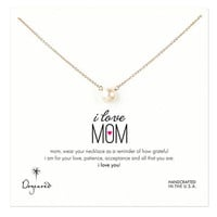 Dogeared 'I Love Mom' Pearl Necklace