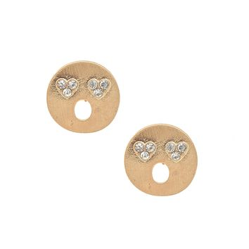 Matte Finish Emoji Astonished Face Earrings