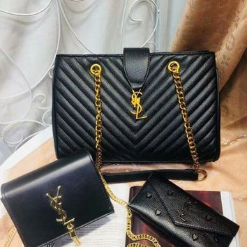 DCC3W Year-End Promotion 3 Pcs Of Bags Combination (YSL Big Bag ,YSL Little Bag ,YSL Wallet)