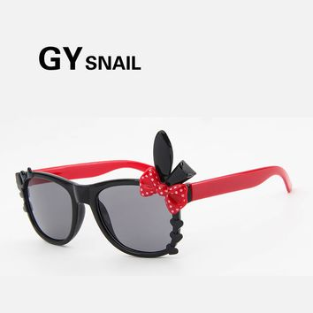 GY snail Lovely cat eye Sunglasses children Boys Brand Design 2017  fashion Sun Glasses girl Anti-uv Baby Glasses kids mirror uv