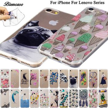 Soft TPU Case For Lenovo A536 A358T K3 A6000 K5 Plus A6020 A2010 Silicon Back Covers