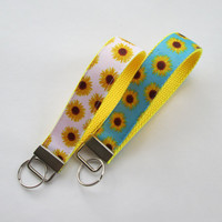 Flower Lanyard Keychain for Women, Cool Lanyards for Women, Flower Keychain Lanyard, Cute Wristlet Lanyard, Cute Key Fobs