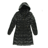 Via Spiga Womens Hooded Lightweight Puffer Coat