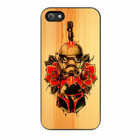 Star Wars Roses Tatto In Wood iPhone 5 Case