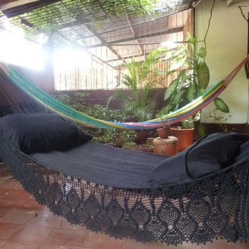 Magic Black Magic Hammock Hand Woven Natural Cotton by hamanica