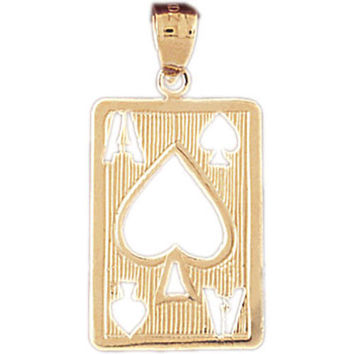 14K GOLD GAMBLING CHARM - PLAYING CARD #5475
