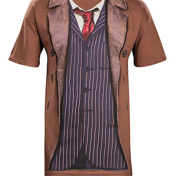 10th Doctor Costume Tee - Brown,