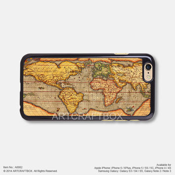 Vintage World Map Free Shipping iPhone 6 6 Plus case iPhone 5s case iPhone 5C case 082