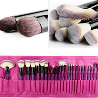 24-pcs Pale Violet Make-up Brush Professional Beauty Tools Make-up Brush Set [6048692801]