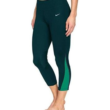 LMFON Nike Women's Power Compression Dri-Fit Tights Turquoise Teal 749457 346 (S)