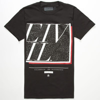 Civil Turf Mens T-Shirt Black  In Sizes