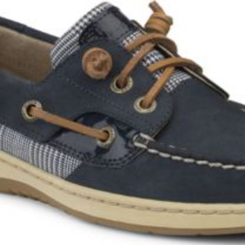 Sperry Top-Sider Ivyfish 3-Eye Boat Shoe Navy/PrinceofWales, Size 6M  Women's Shoes