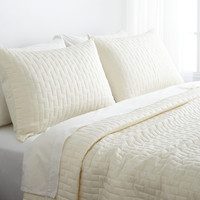 Bamboo Quilted Brick Coverlet Set