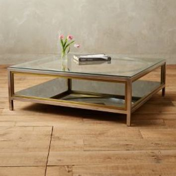 Tracey Boyd Enclosed Circlet Coffee Table in Slate Size: One Size Furniture