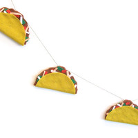 Large felt taco banner, taco party banner loaded with beef, peppers, tomatoes and mixed cheese