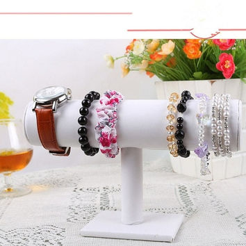 "1PC Jewelry Display Stand Bracelet Chain Bangle Watch T-bar White 9""x5 4/8"" = 1705672708"