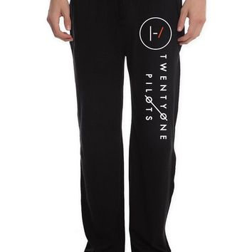 XTD Men's Twenty One Pilots Band logo Lounge Pajama Pants