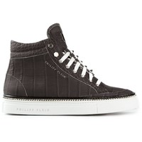 Philipp Plein crocodile effect hi-top sneakers