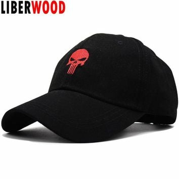 Trendy Winter Jacket LIBERWOOD Embroidered Hero USA Punisher SKULL Logo Baseball Cap Snapback Hats Sports Cap Structured Dad Hat Casual Men Cap AT_92_12