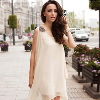 2015 Graceful Summer Chiffon Maternity Clothes  For Pregnant Women Sleeveless  dress casual women dresses = 1946152068