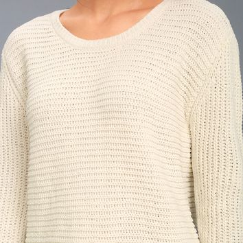 Briegh Light Beige Knit Sweater